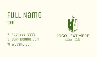 Ancient Shield Turret  Business Card