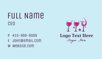 Fancy Wine Glass Business Card