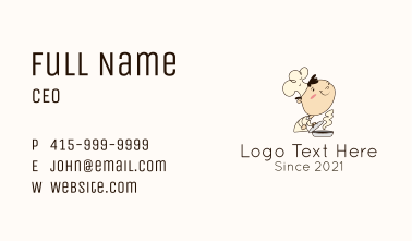 Soup Chef Man Business Card