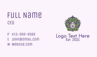 Medusa Greek God Business Card