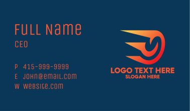 Fiery Space Comet  Business Card