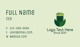Healthy Green Juice  Business Card