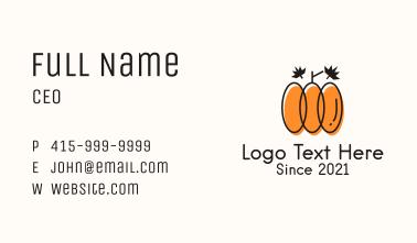 Garden Leaf Pumpkin Business Card