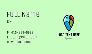 Parrot Bird Location App Business Card