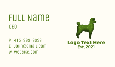 Poodle Topiary Plant Business Card