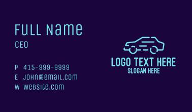 Blue Fast Car Business Card