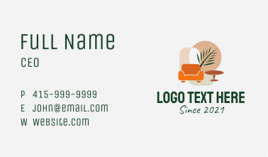 Tropical Room Decoration  Business Card