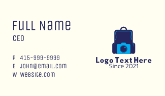 Travel Photography Backpack Business Card