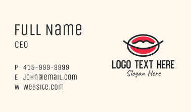 Lips Mouth Makeup  Business Card