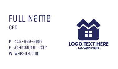 Housing Letter M Business Card