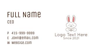 Cute Happy Bunny Business Card