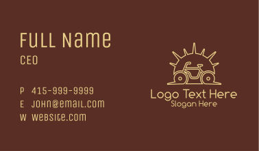 Sunrise Bicycle Outline Business Card