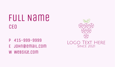 Outline Grape Fruit  Business Card