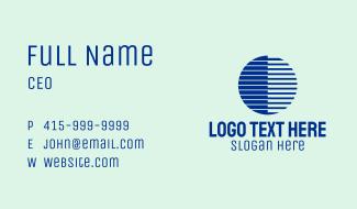 Blue Bars Sphere Business Card
