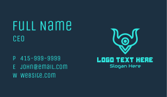 Monster Gaming Locator Business Card