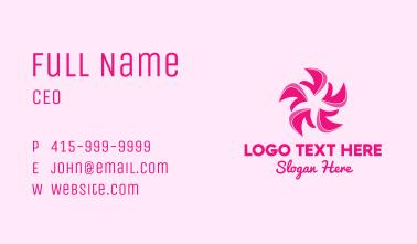 Pink Flower Petals Business Card