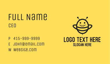 Black Happy Bee Business Card