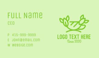 Organic Green Tea Cup Business Card