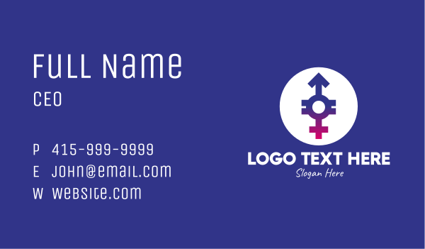sexuality - Gender Equality Business card horizontal design