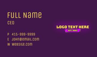 Cartoon Text Wordmark Business Card