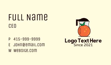 Orange Juice Blender Business Card