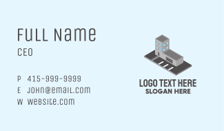 Isometric Office Space Business Card