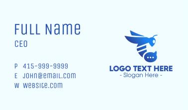 Blue Wasp Stinger Business Card