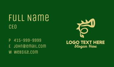 Natural Horn Instrument  Business Card