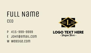 Classic Geometric Lettermark Business Card