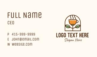 Organic Brewed Coffee Business Card