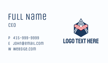 Aviation Letter A Emblem  Business Card