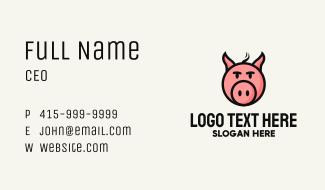 Pig Head Meatshop Business Card