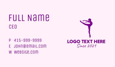Ballet Woman Dancer Business Card