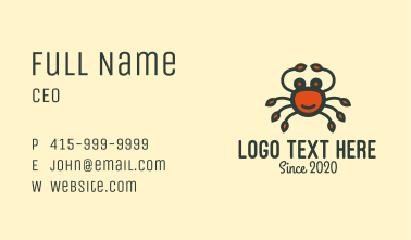 Happy Red Crab Business Card