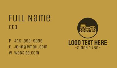 Rustic Flavian Colosseum Landmark Business Card