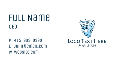 Smiling Tornado Mascot  Business Card