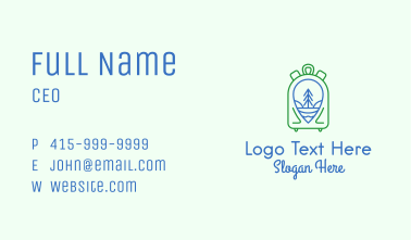 Backpack Luggage Travel Business Card