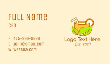 Orange Juice Drink Business Card