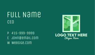 Green Tree Branches Business Card