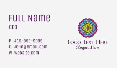 Floral Textile Pattern  Business Card