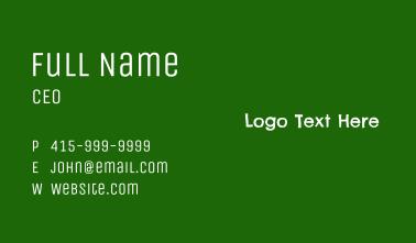 School Balckboard Wordmark Business Card