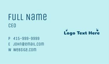 Laundry Shop Wordmark  Business Card