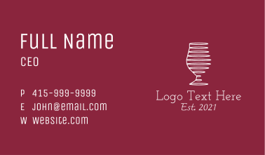 White Wine Glass Business Card