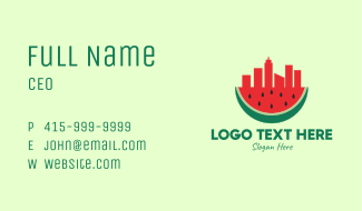 Watermelon City Business Card