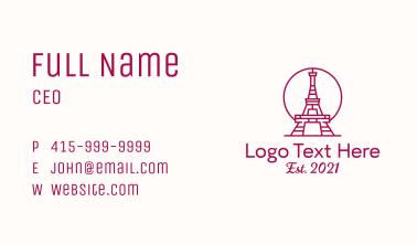 Minimalist Eiffel Tower Business Card