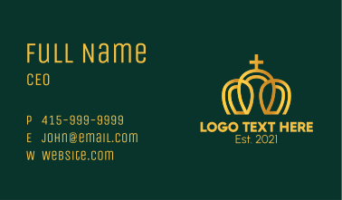 Gold Minimalist Imperial Crown Business Card