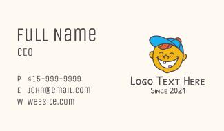 Happy Kid Mascot  Business Card