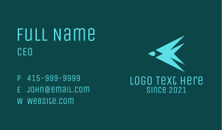 Blue Bird Delivery  Business Card