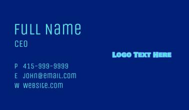 Blue Childish Wordmark Business Card