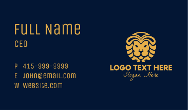 Golden Lion Luxury Business Card
